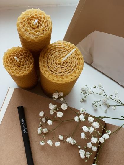Медовые свечи - Набор 3шт