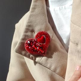 "Брошь: "" BIG HEART"""